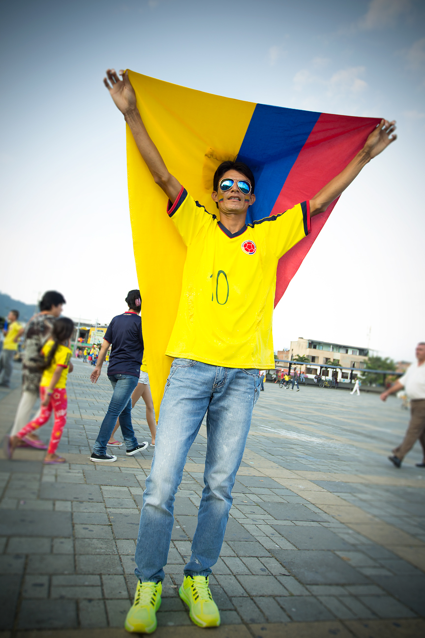 Colombie_Supporter Victoire Uruguay