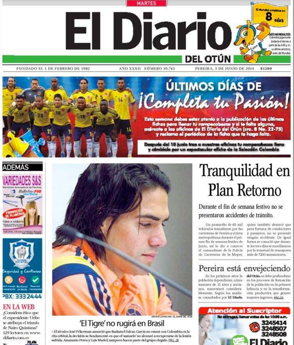Le «Tigre ne rugira pas au Brésil» se désole le quotidien El Diario del Otun.
