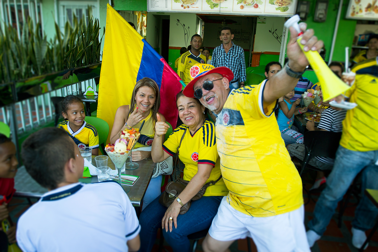 Colombie_Supporter Heureux_Victoire Uruguay