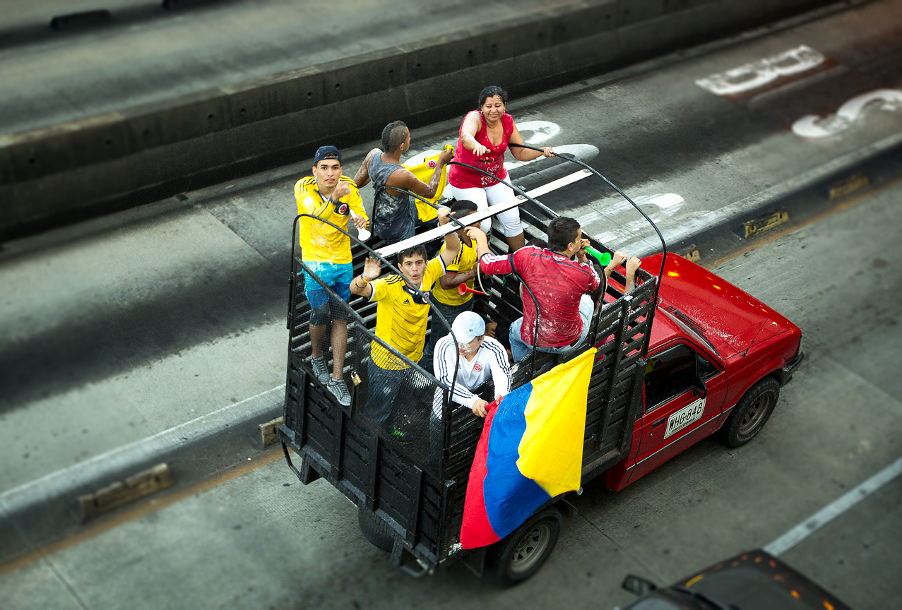 Colombie_Supporters en voiture