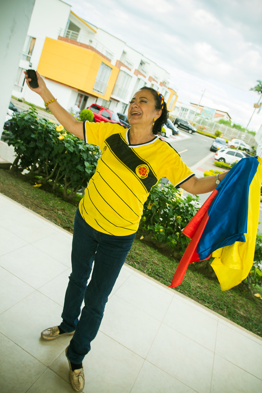 Colombie_Supportrice Victoire Uruguay