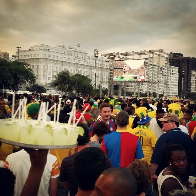 Match d'ouverture Brésil x Croatie sur la plage de Copacabana, le 12 juin 2014.