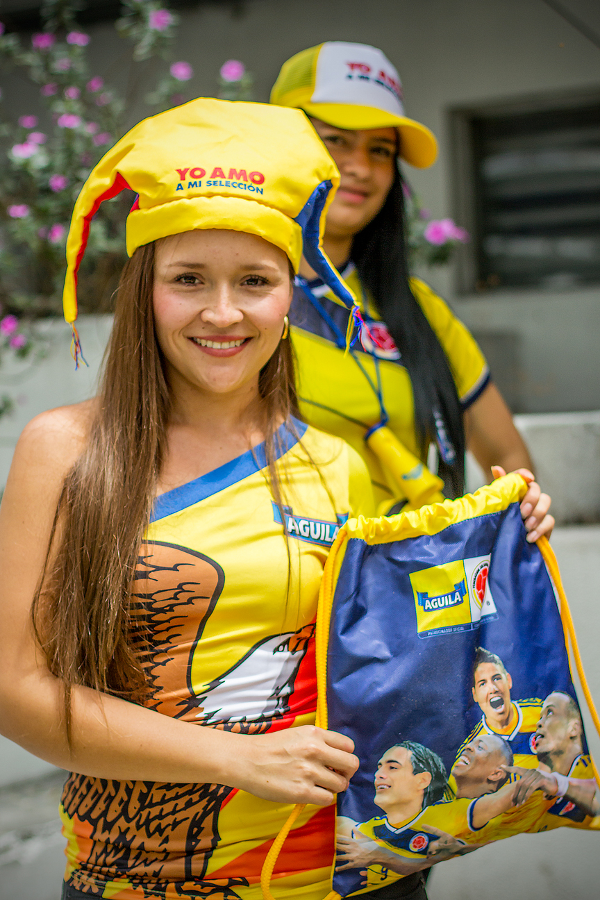 Supportrice Colombienne