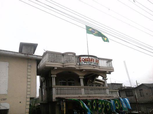 Drapeau du Brésil et de l'Argentine