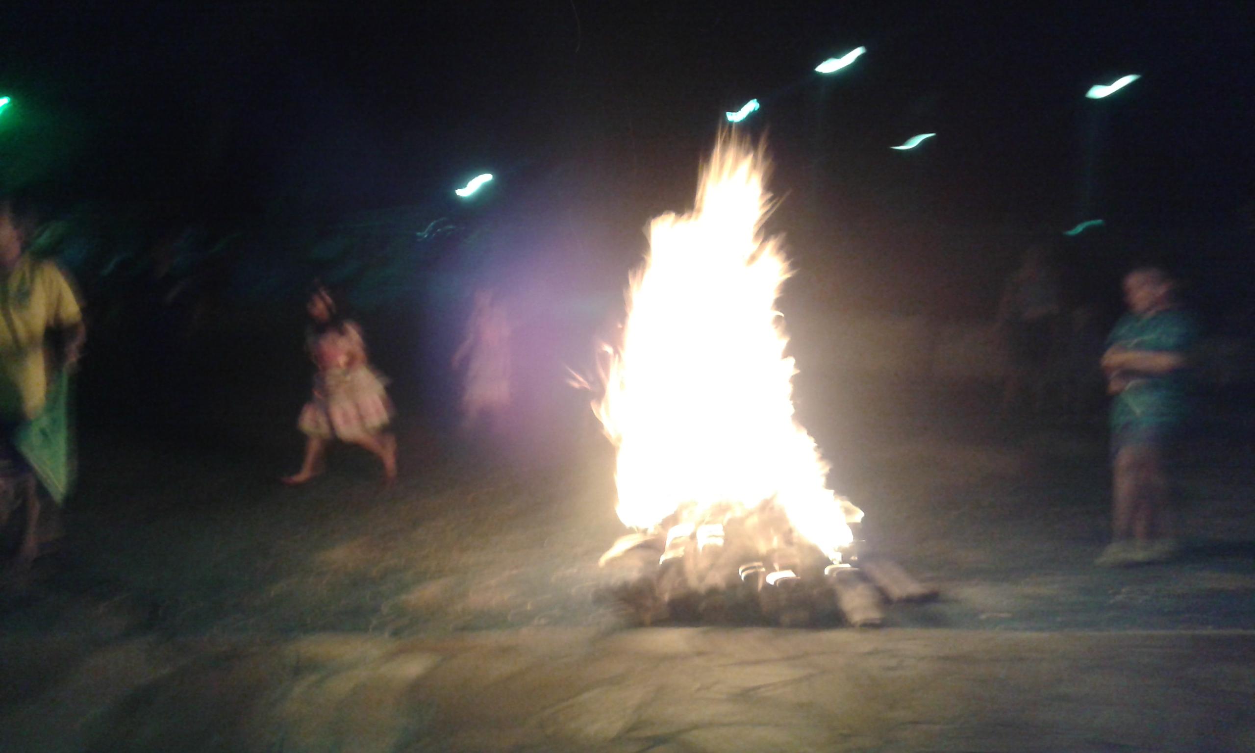 La célèbre Fogueira Junina du mois de juin. C'est une tradition du nord-est du Brésil. (Crédit photo: Fabio Santana).