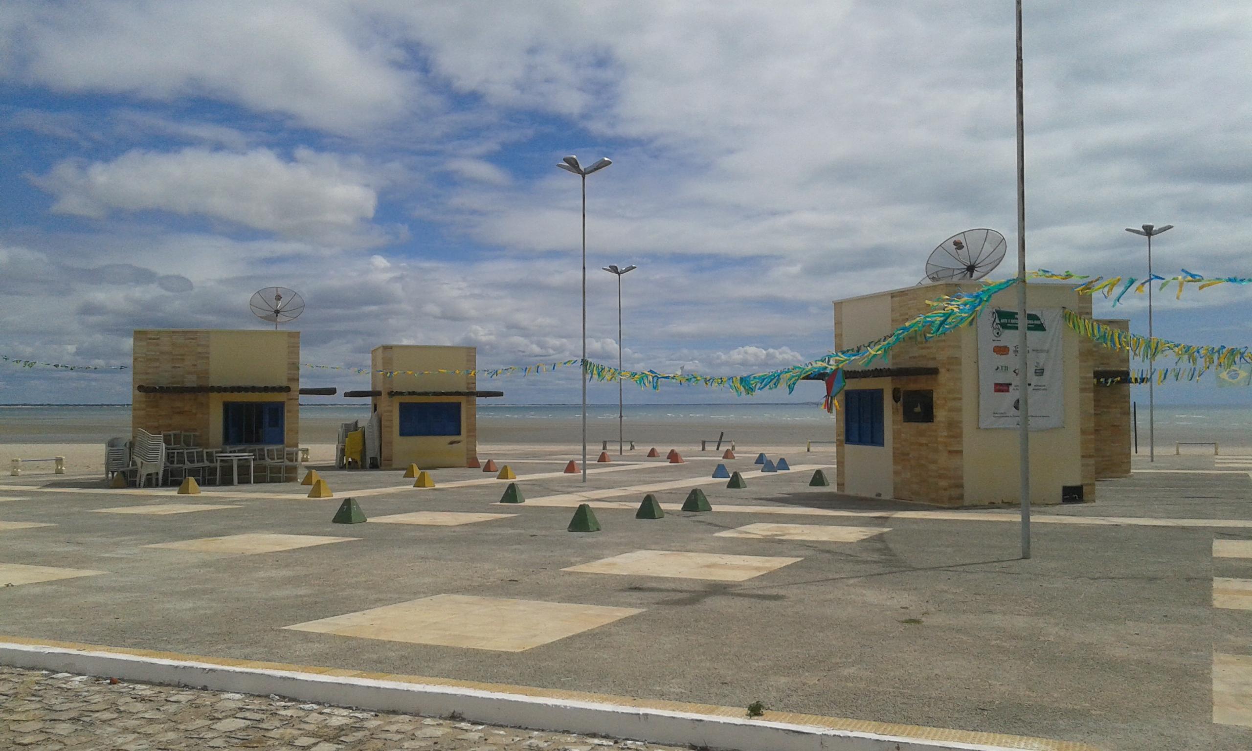 La place d'événements  à la plage d'Upanema à Areia Branca. (Crédit photo: Fabio Santana).