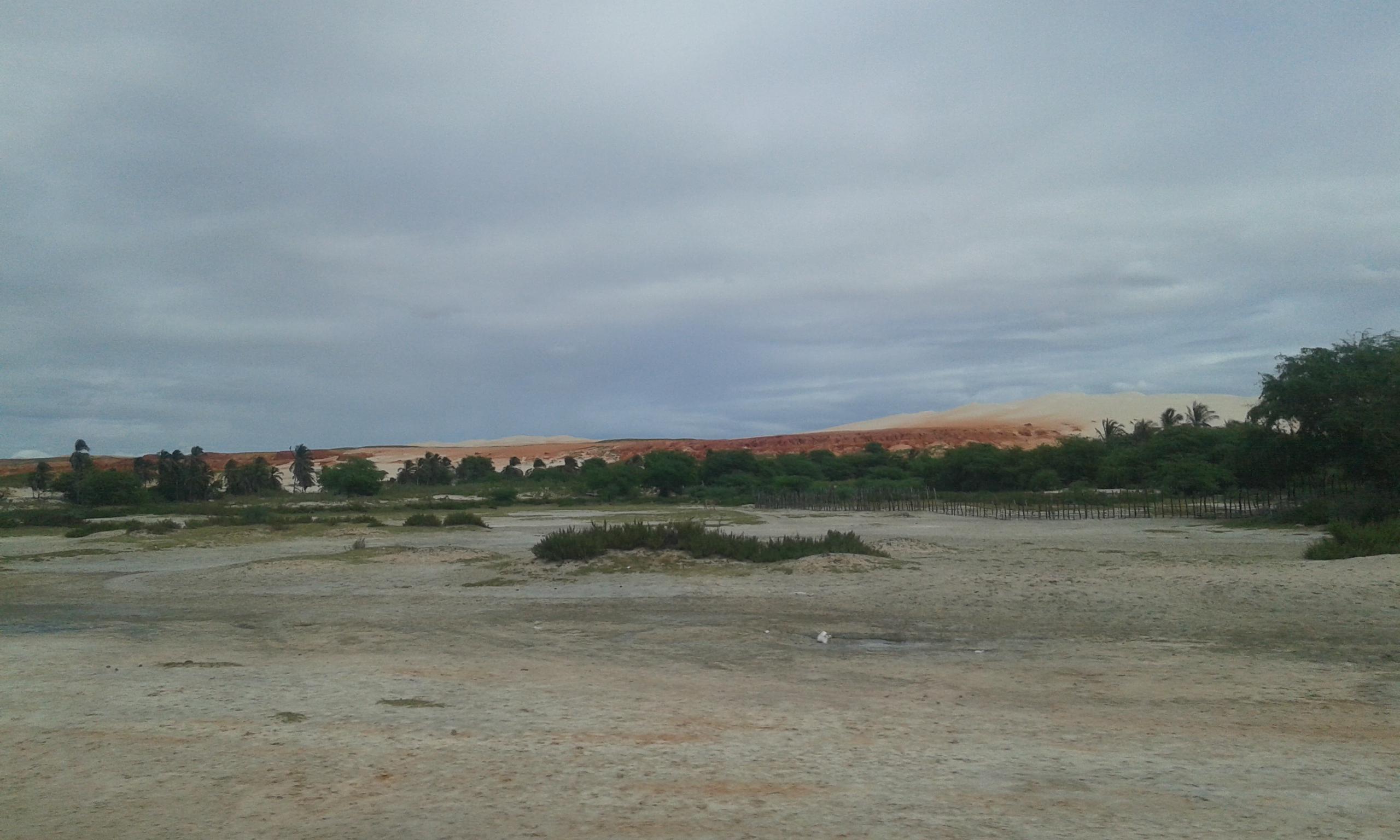La vue partielle des dunas du rosé à Areia Branca. (Crédit photo: Fabio Santana).