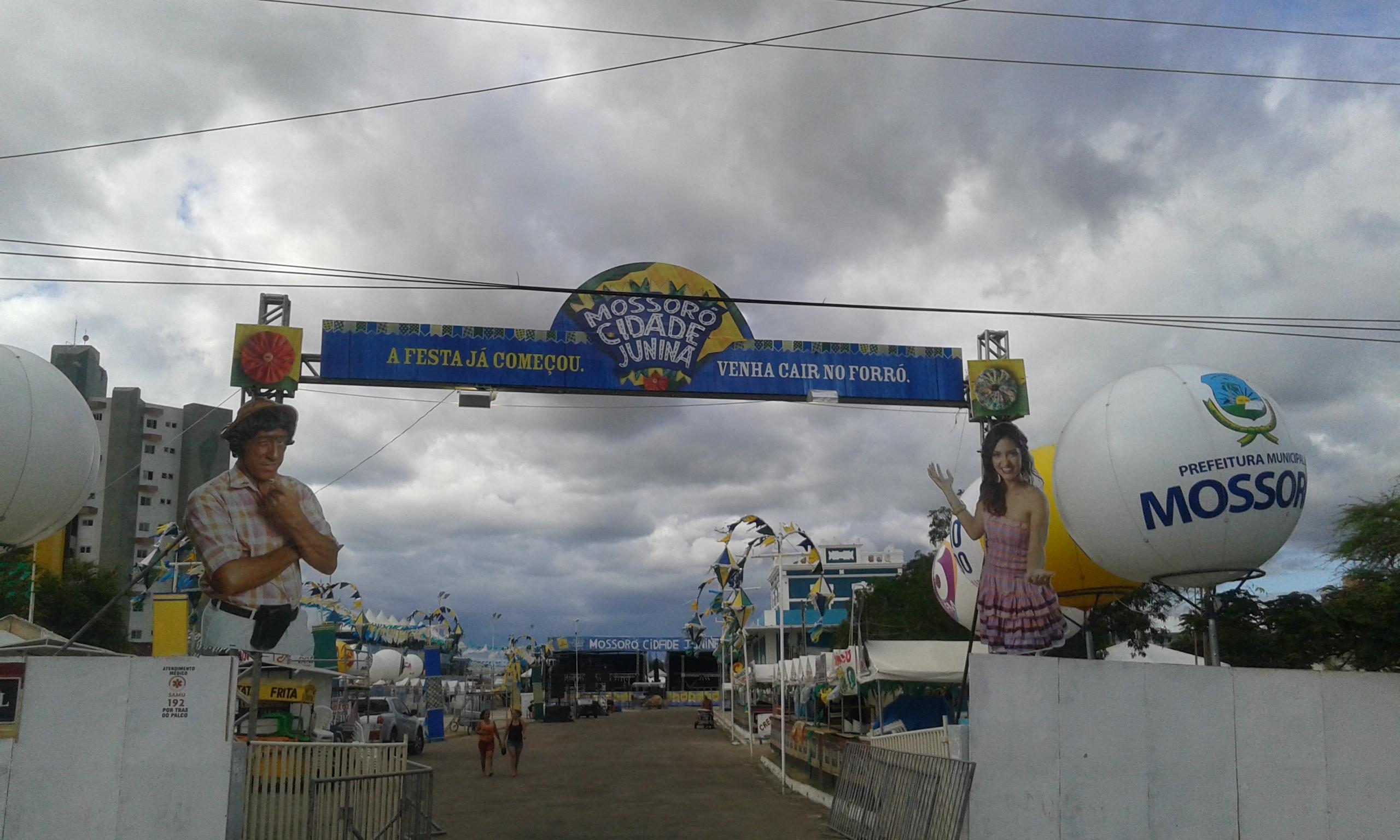 L'espace de la Fête Junina de Mossoró,dans la station des arts, était aussi vide avant le match de foot Brésil - Cameroun. (Crédit photo: Fabio Santana).