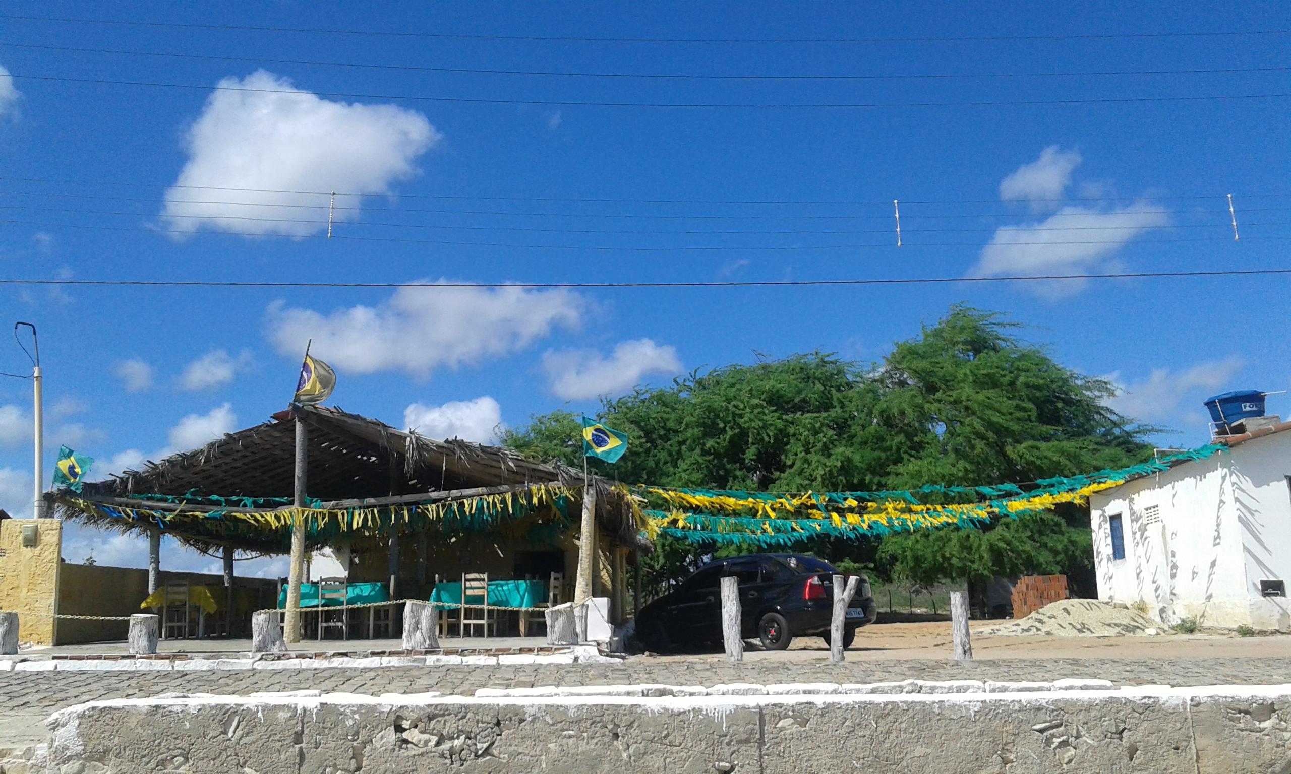 L'un petit bar à la plage d'Upanema à Areia Branca. (Crédit photo: Fabio Santana).