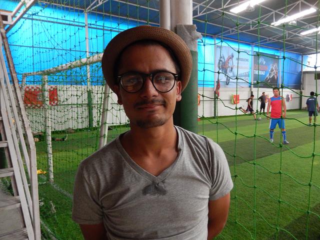 Saugat, 20 ans, étudiant en Inde est révolté par l'attitude des dirigeants du football népalais © S.H