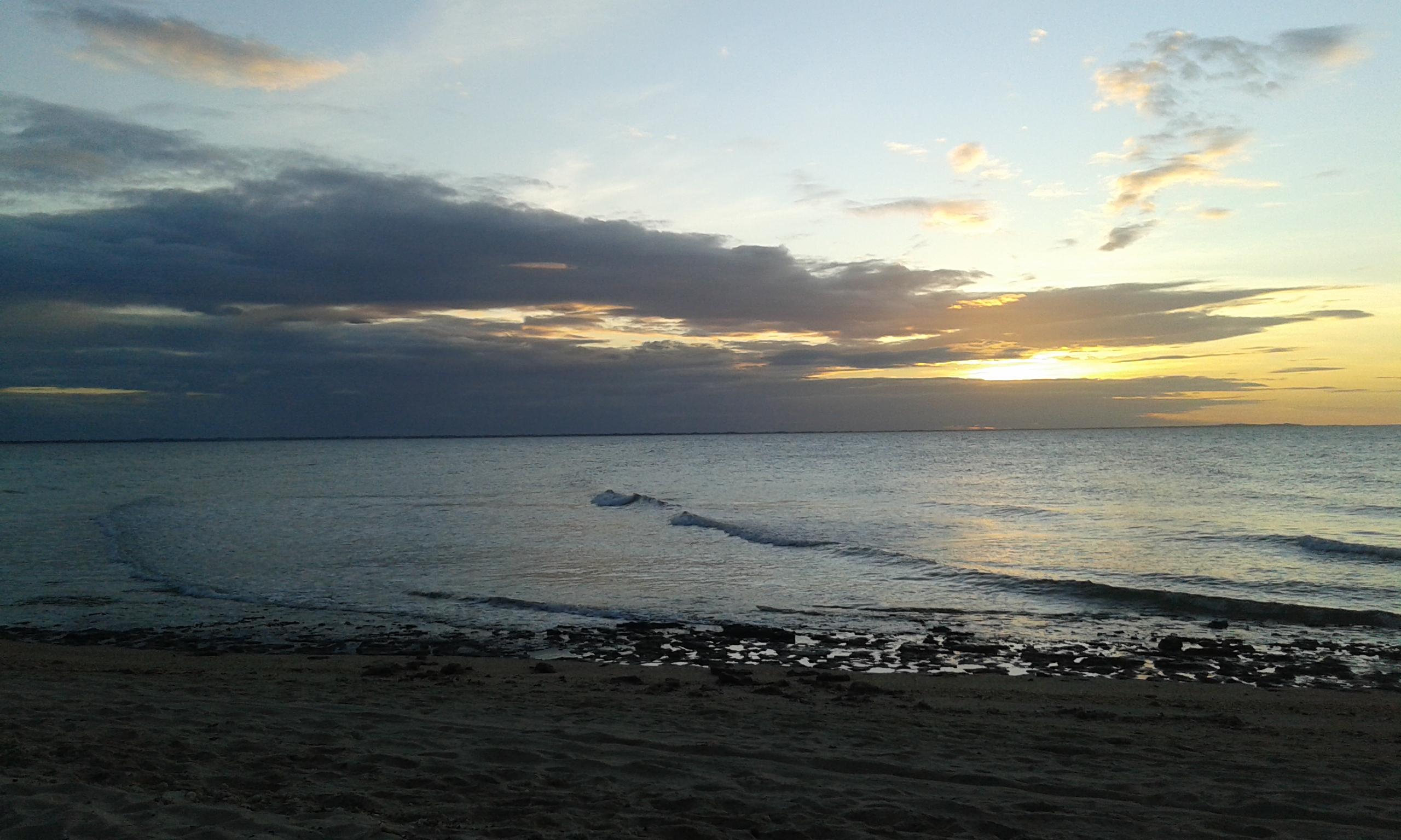 Le couché du soleil à la plage d'Upanema à Areia Branca.(Crédit photo: Fabio Santana).