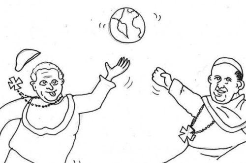 Article : Dessin du jour : quand deux papes s'amusent…